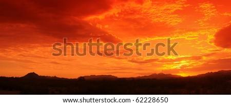 Red sunset in Arizona