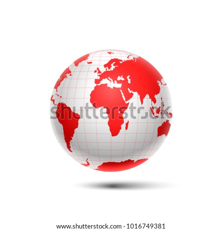 red surround the globe planet earth