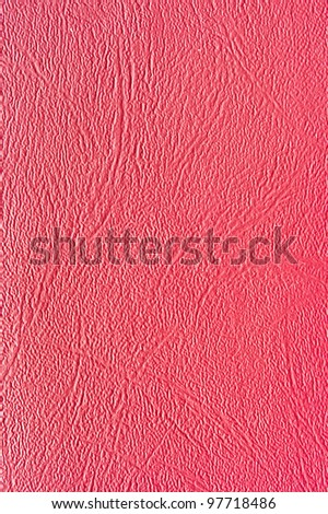 Red synthetic leather for background