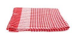 Red table napkin