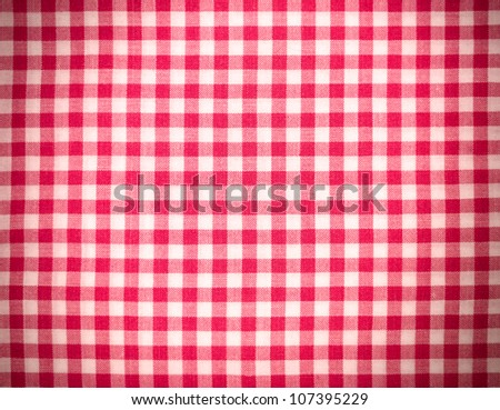 Red tablecloth background with vignette