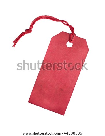 Red tag - stock photo