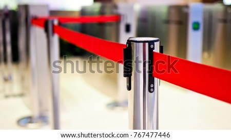 Red tape Portable Barrier  #767477446