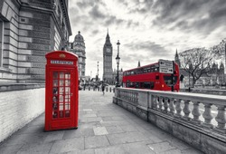 Red Telephone Booth in London