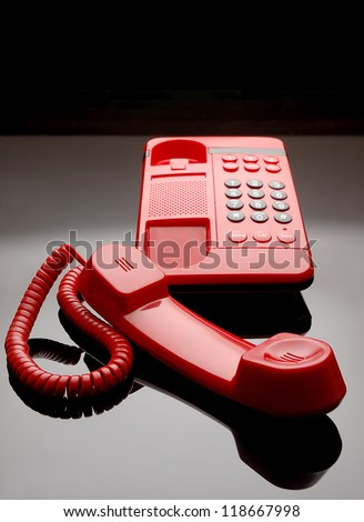 Red telephone for office and home use