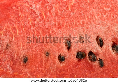 Red texture of sweet watermelon.