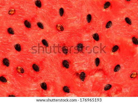 Red texture of sweet watermelon