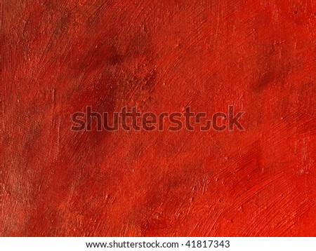 Red textured oil on canvas painting background.