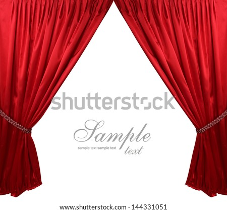 Red theater curtain background #144331051