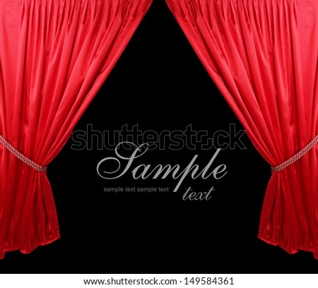 Red theater curtain background #149584361