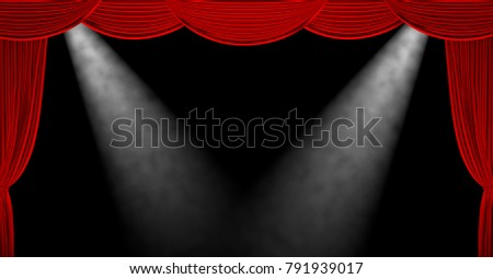 red theater curtains background 3d render illustration ez canvas