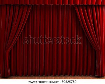 red theater curtains realistic illustration of velvet curtains