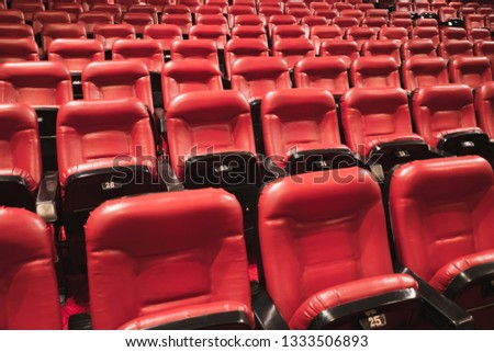 Red theater seats #1333506893