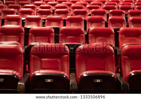 Red theater seats #1333506896