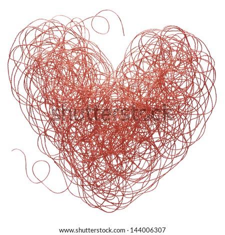 Red Thread Heart 스톡 사진 144006307 : Shutterstock