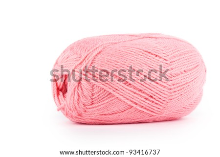 Red threads isolated on white background