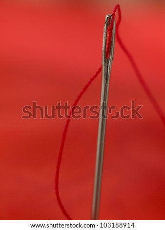 red threat in the needle