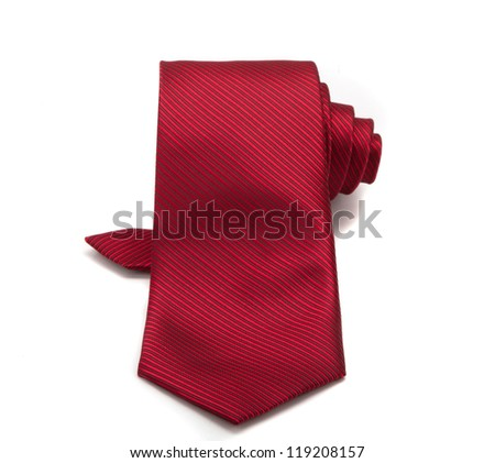 red tie isolated