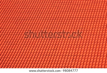 Red tile roof background