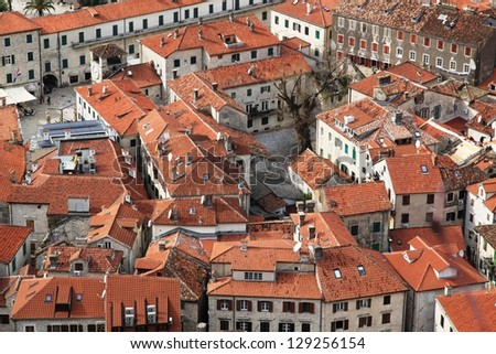 Red tile roofs, Kotor, Montenegro