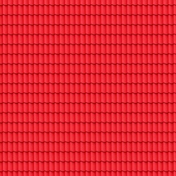 Red tiled roof seamless background - texture pattern for continuous replicate.