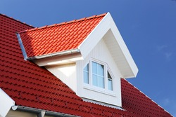 Red tiled roof with dormer