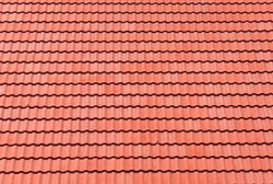red tiles roof for background.