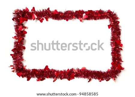 ... Shape on a White Background Ready For Your Own Message. - stock photo