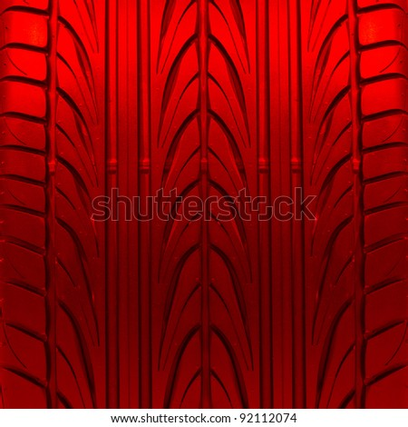 red tire texture - stock photo