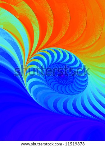 Red to Blue Rainbow Spiral