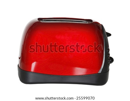 red toaster with clipping path