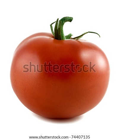 Red tomato isolated on a white background - stock photo