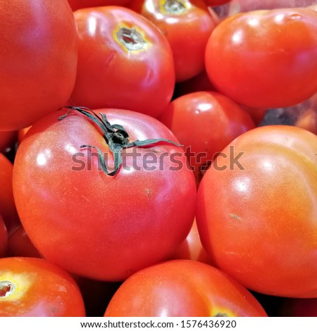 Red tomatoes or cherry tomatoes background. Group of tomatoes or group cherry tomatoes. #1576436920