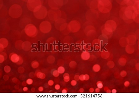 Red tone blur bokeh light background