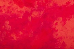 Red tones abstract expressionist watercolor hand painted background