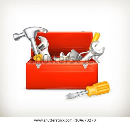 Red toolbox, bitmap copy