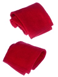 red towels on white background