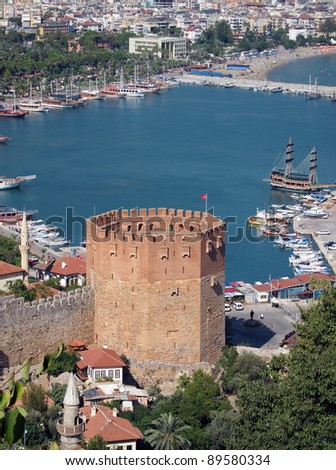 Red Tower, Alanya and Harbour