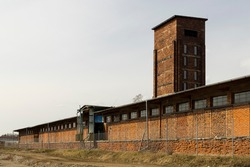 Red Tower of Death, UNESCO site with inscription in Czech language