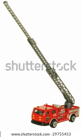red toy fire engine