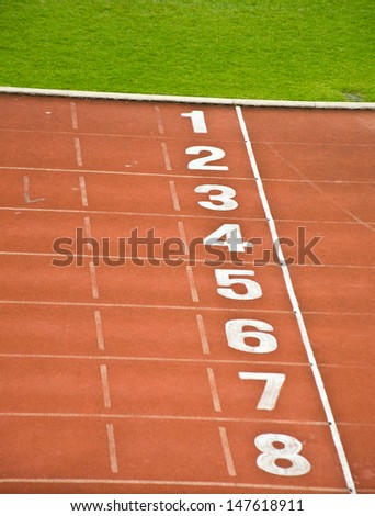red track 1-8 lane for running competition
