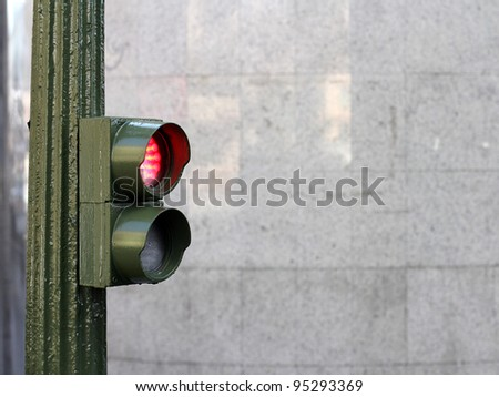 red traffic lights. stop sign