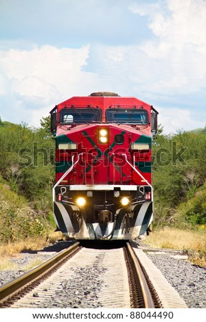 red train in mexico
