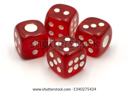 Red transparent dice #1340275424