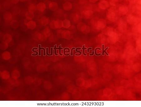red twinkling lights, festive mood