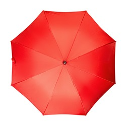 Red umbrella, on a isolated white background