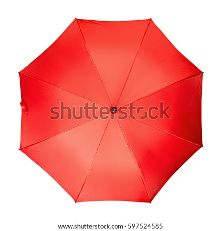 Red umbrella, on a isolated white background #597524585