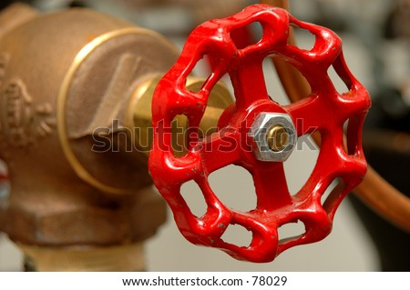 Red Valve Handle