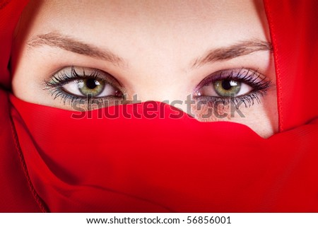 Dubine oka - Page 2 Stock-photo-red-veil-woman-with-beautiful-sexy-eyes-56856001