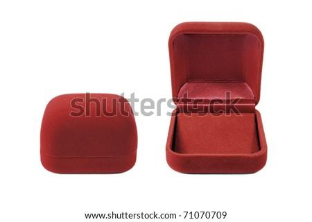 red velvet box close & open